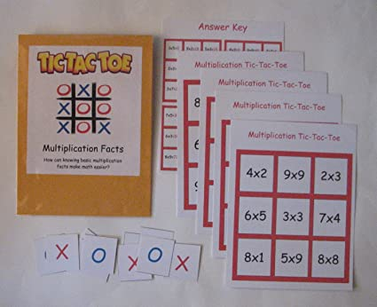 Teacher Made Math Center Resource Multiplication Tic-Tac-Toe Multiplication Fact