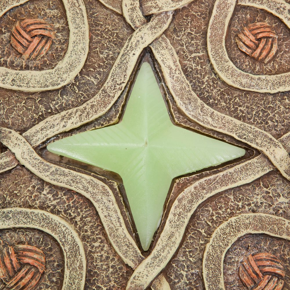 Bits and Pieces - Celtic Compass Glow Garden Stone - Decorative Stone for Your Garden or Lawn - Beautiful Glow-in-the-Dark Stone Makes Great Garden Art - Garden Décor by Bits and Pieces (Image #4)