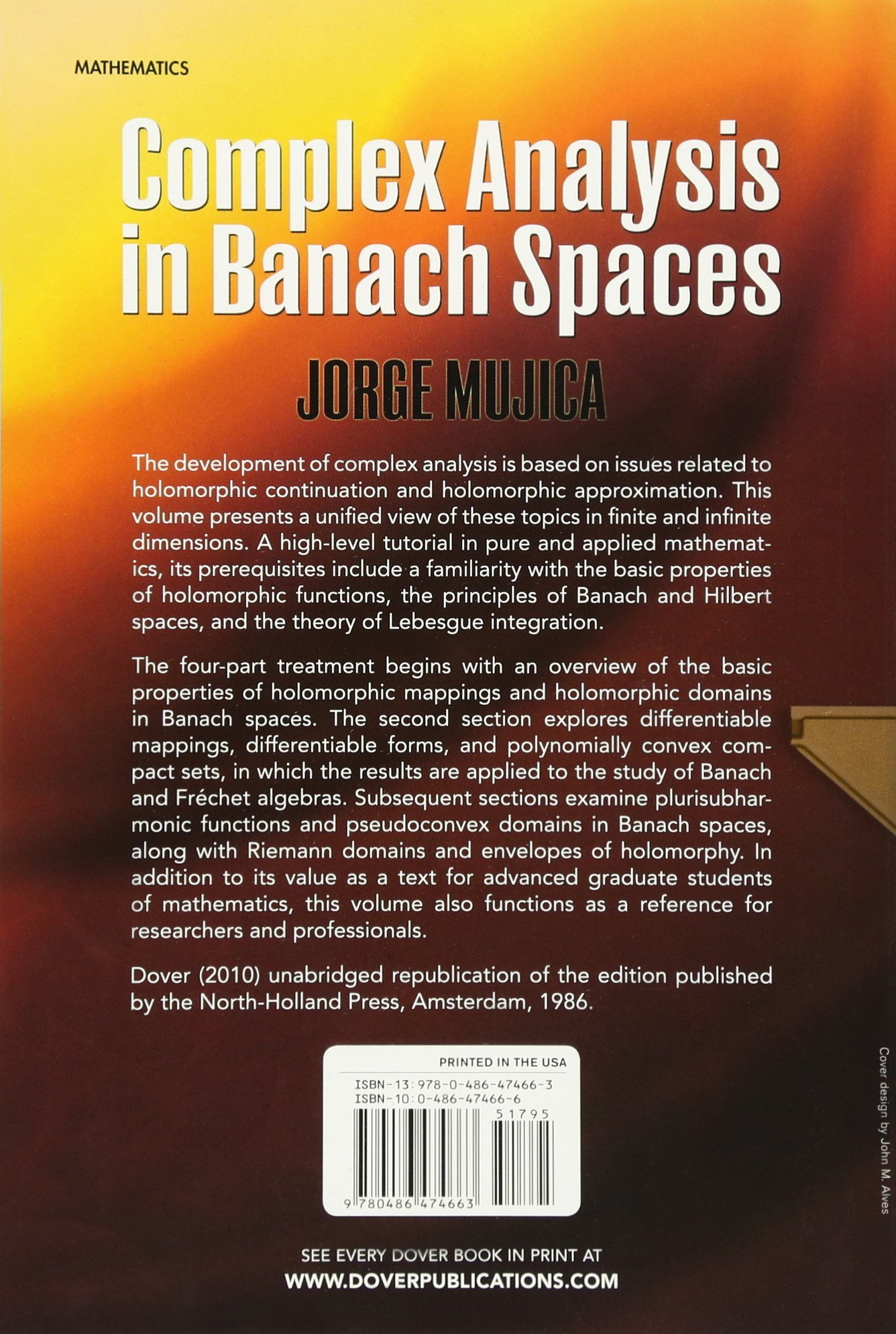 Complex analysis in banach spaces dover books on mathematics complex analysis in banach spaces dover books on mathematics jorge mujica 9780486474663 amazon books fandeluxe Gallery
