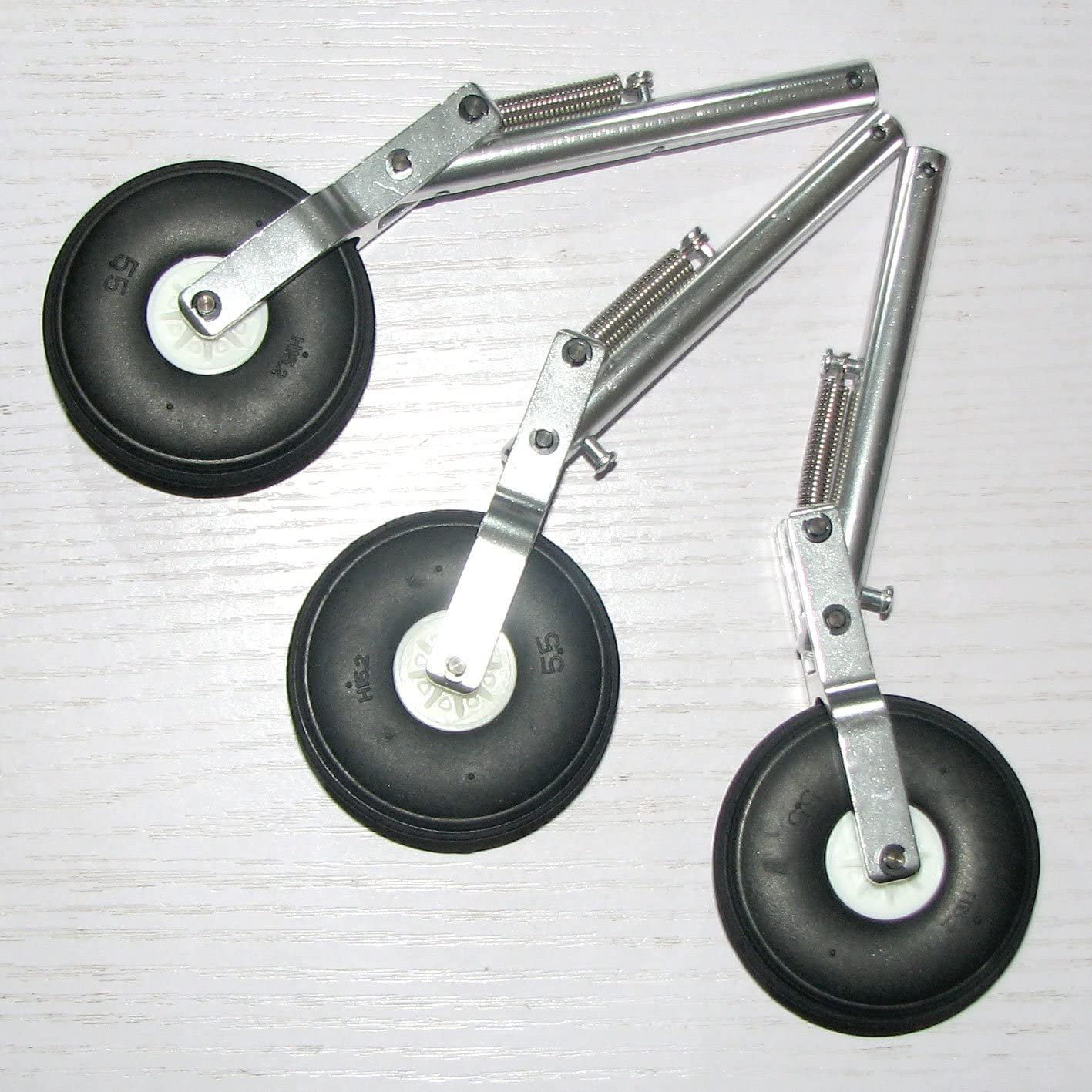 MD 150mm Alum Offset Oleo Struts Landing Gear 5mm Recording with PU tyre