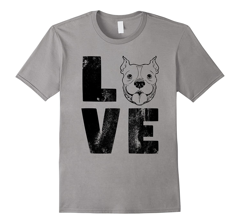 Dog Shirt Love English Pitbull Shirt Dog Lovers Shirt Face-ANZ