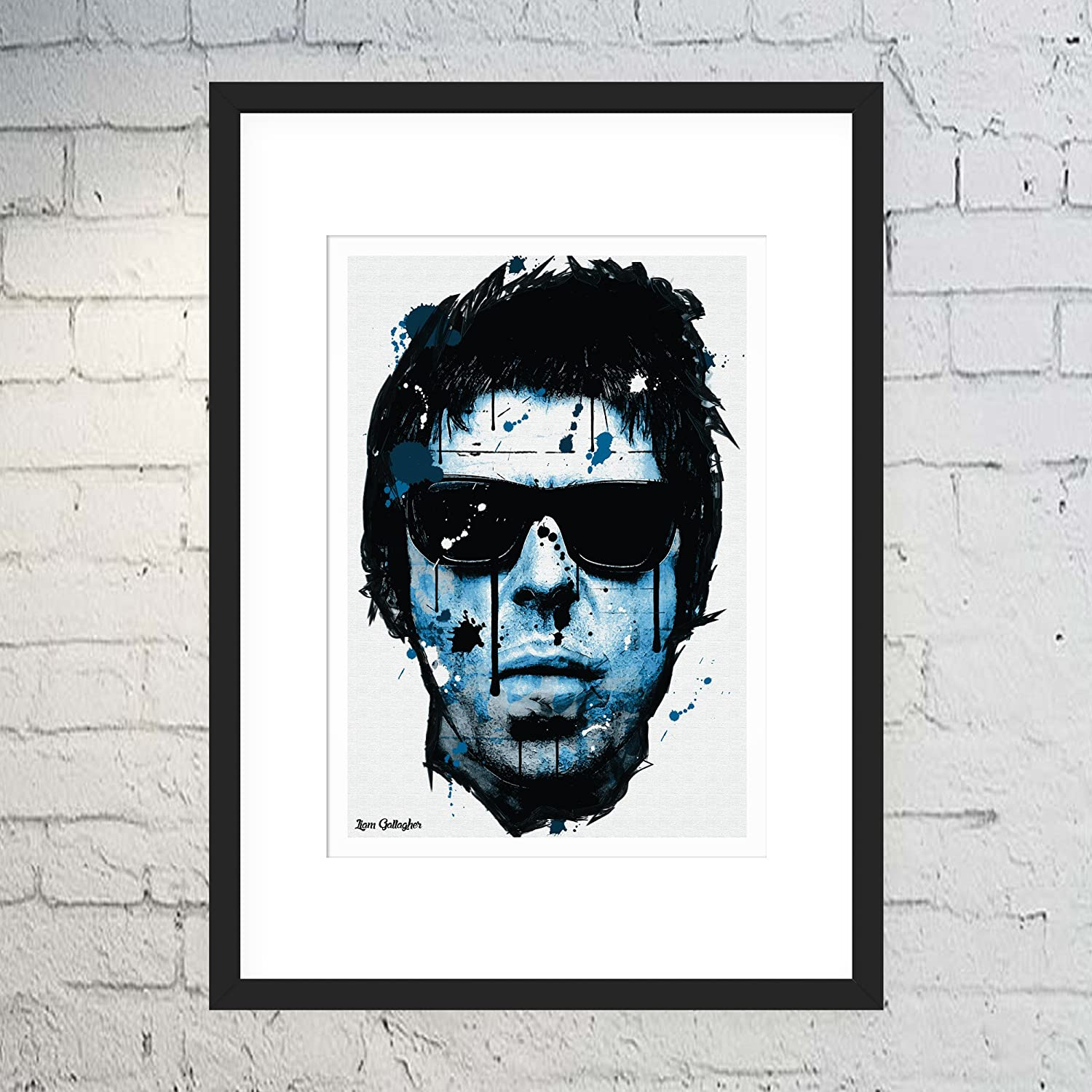 Liam Gallagher Oasis Portrait Framed Canvas Art Picture Ready To Hang
