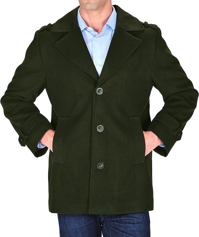 Amazon.com: braveman de los hombres único breasted abrigos ...