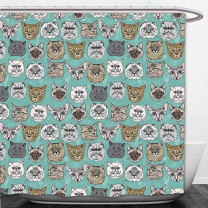 beshowere cortina de ducha gato Vintage británico siberiano ...