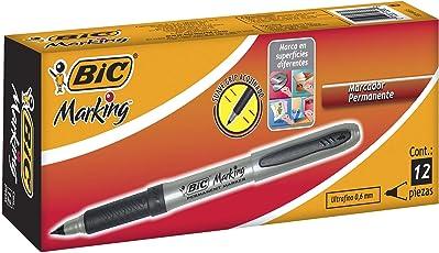 BIC Marking, color Negro, 12 Piezas