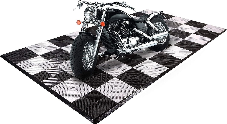 Motorcycle Mats IncStores Coin Nitro Tile Black//Arctic White