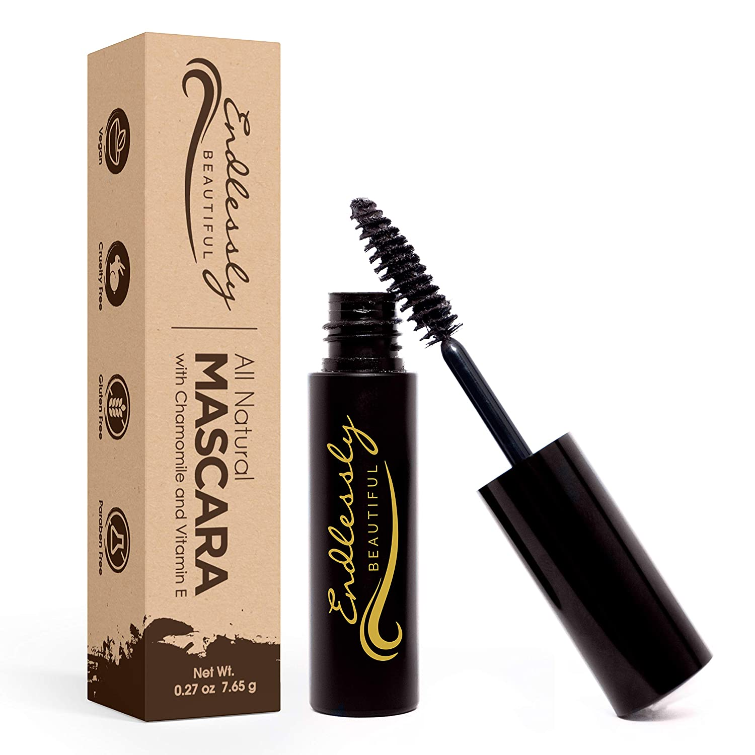 Organic Mascara | Brown Mascara | Vegan & Cruelty Free | Best Natural Mascara for Thickening and Lengthening | Best Gluten Free Eyelash Organic Make ...