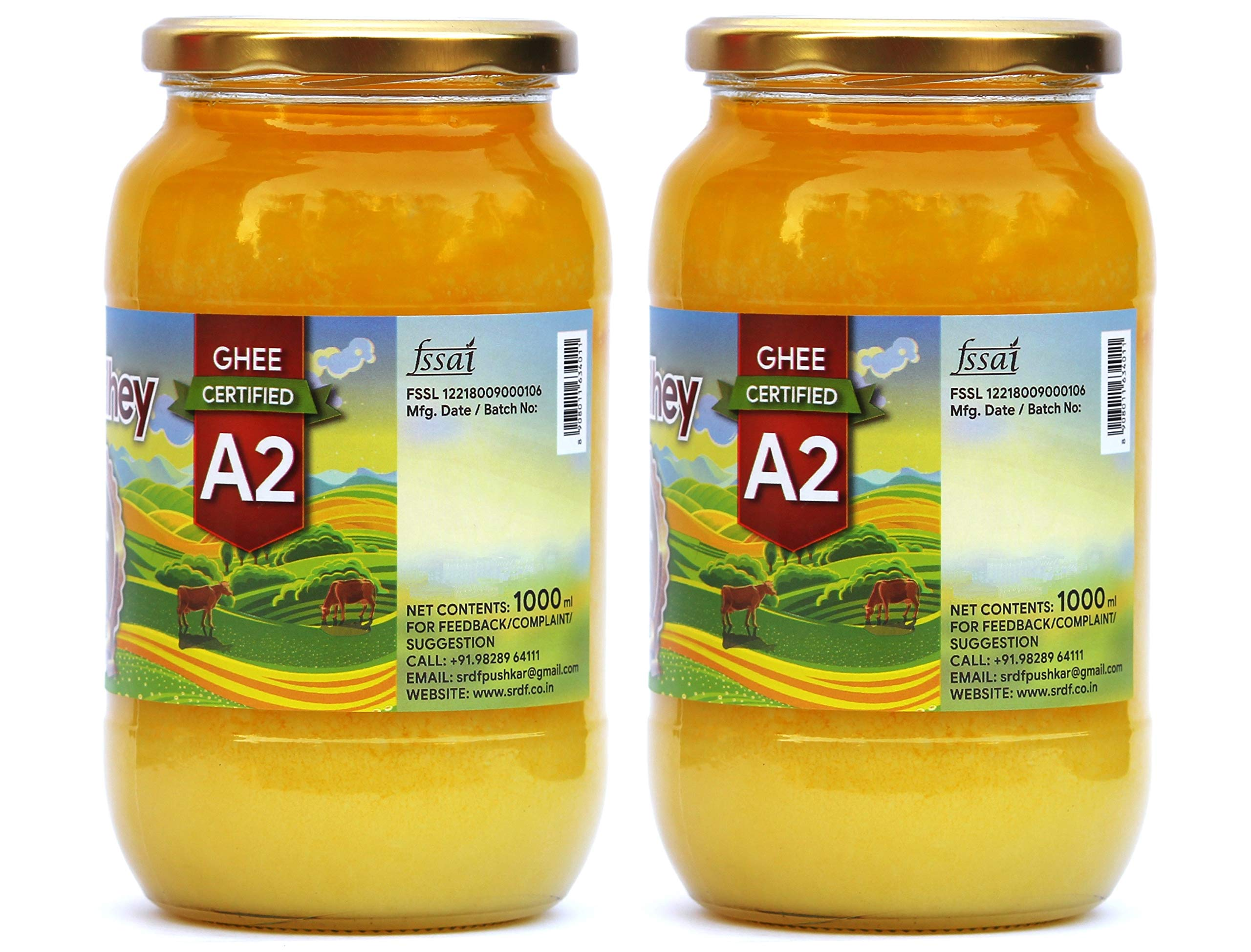 Shree Radhey Certified A2 Gir Cow Ghee - Gluten Free - (Traditionaly Hand Churned) (1000 ml X 2) by Shree Radhey (Image #2)
