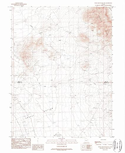 Topaz Mountain Utah Map.Amazon Com Utah Maps 1988 Topaz Mountain Ut Usgs Historical