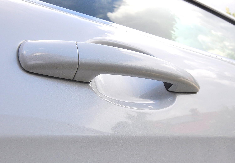 4x T/ürmulde Schutzfolie 100/µm stark Transparent klar durchsichtig gegen Kratzer passend f/ür Ihr Fahrzeug