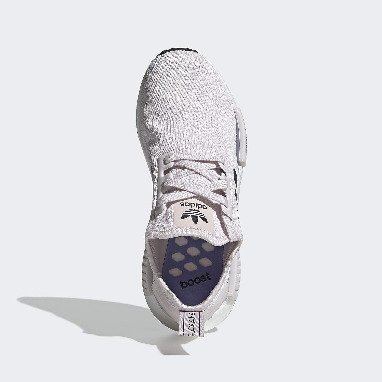 adidas Originals Damen NMD_r1 Turnschuh, Beige/Weiß Orchid Tönung Collegiate Navy Chalk Purple