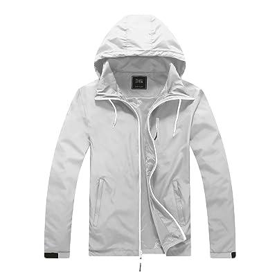 ZSHOW Men's Lightweight Packable Windproof Hooded Jacket Quick Dry Windbreaker