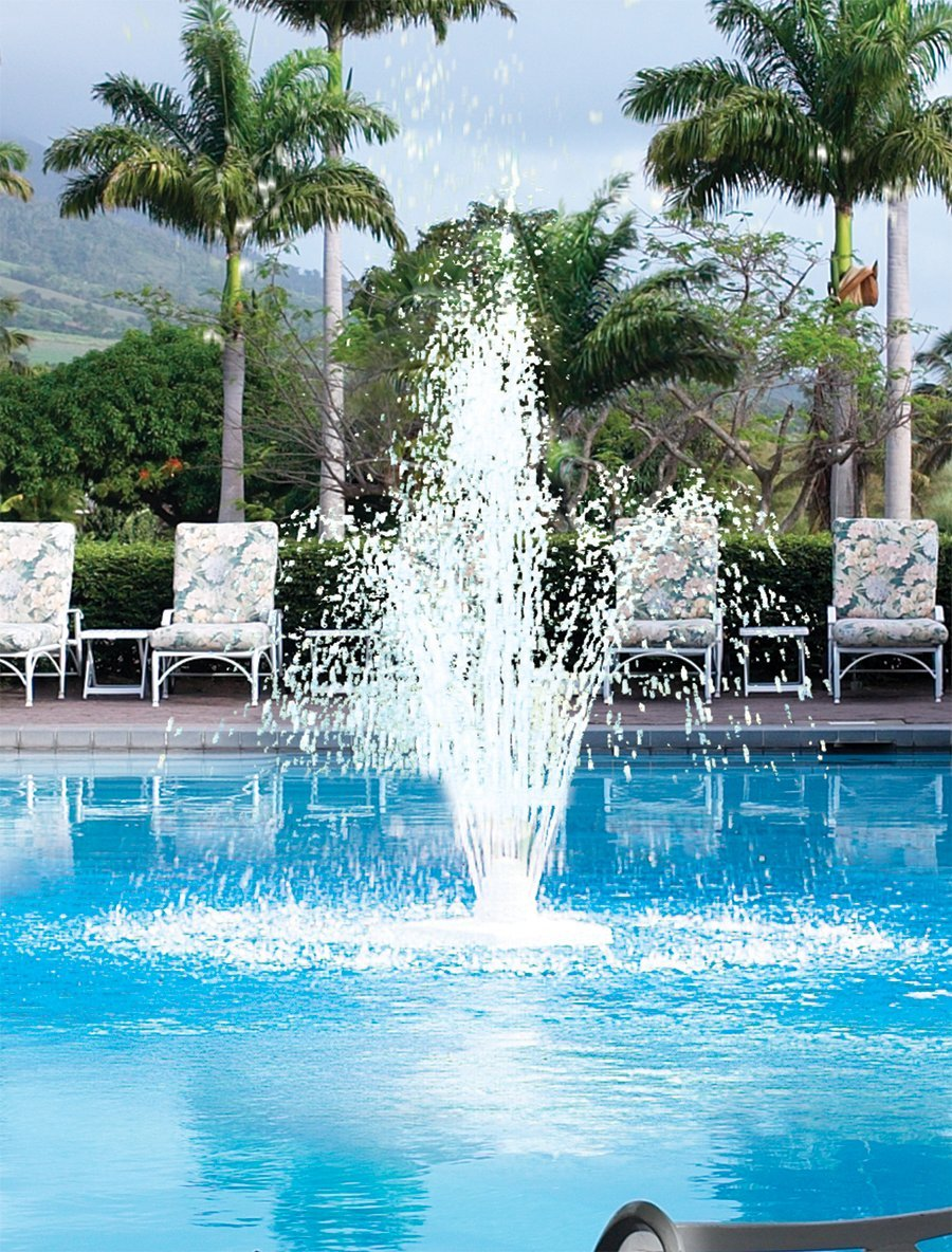 Aqua Select Grecian Outdoor Pool Fountain | for Above Ground or Inground Swimming Pools | Three Tier Fountain | White