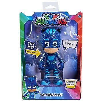 PJ Masks - Súper Figura con Voz, Gatuno, Color Azul (Bandai 24856)