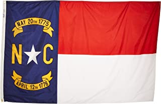 product image for Annin Flagmakers Model 143970 North Carolina State Flag 4x6 ft. Nylon SolarGuard Nyl-Glo 100% Made in USA to Official State Design Specifications.