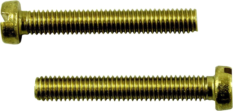 SN-TEC Messing Schlitz Gewindeschrauben DIN 84 mit Zylinderkopf M6 x 70mm 10 St/ück