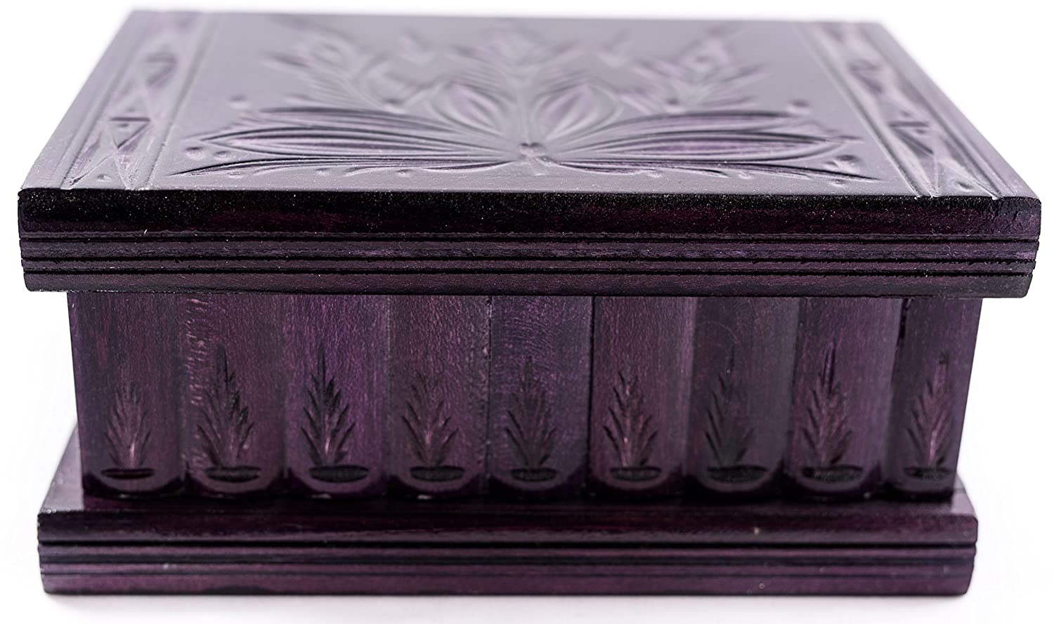 Handmade Wooden Puzzle Boxes with Hidden Compartment (Large) - Top Quality Elegant Box with Easy Open/Closing Mechanism - Decorative Storage Box for Jewelry, Toys, Puzzles - Great Gift All Purple