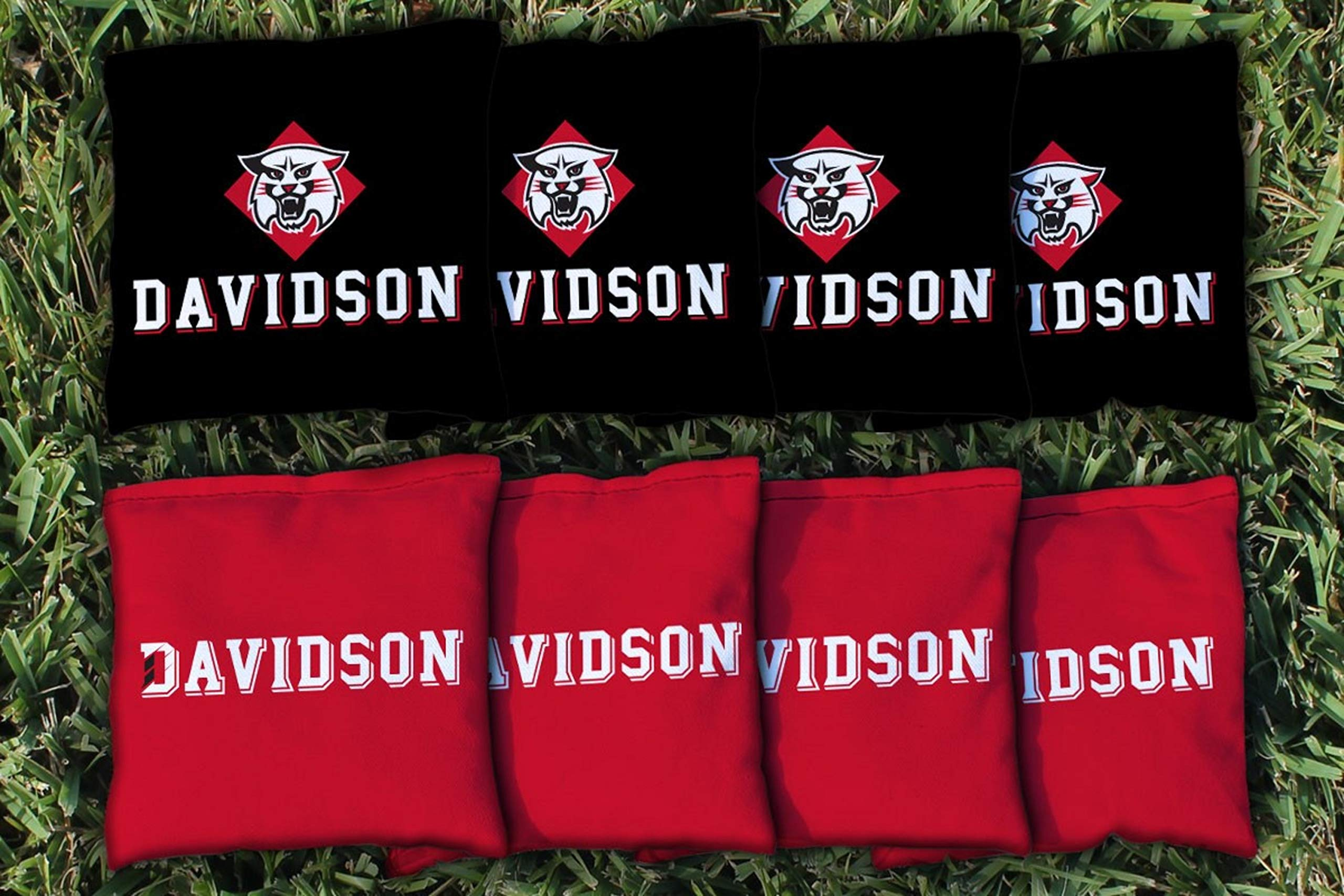 Victory Tailgate NCAA Collegiate Regulation Cornhole Game Bag Set (8 Bags Included, Corn-Filled) - Davidson Wildcats by Victory Tailgate