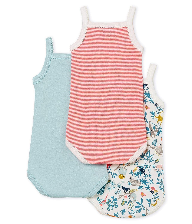 Petit Bateau Baby Girls Bodysuit Pack of 3