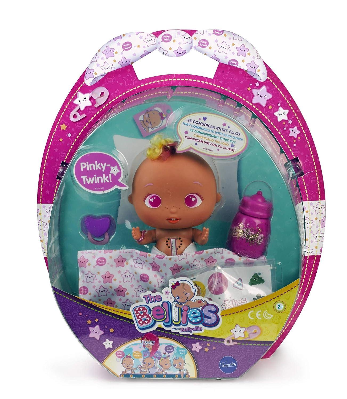 The Bellies - Pinky -Twink, muñeco interactivo para niños y niñas de 2 a 8 años (Famosa 700014563)