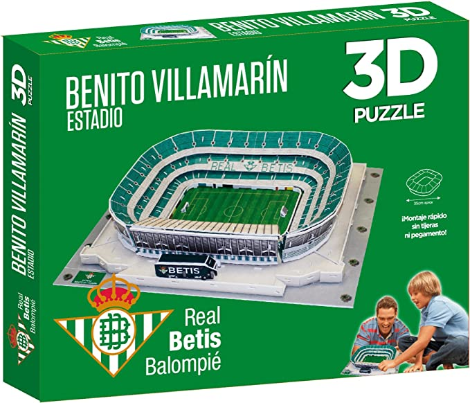 Puzzle 3D Estadio Real Betis Benito Villamarin: Amazon.es ...