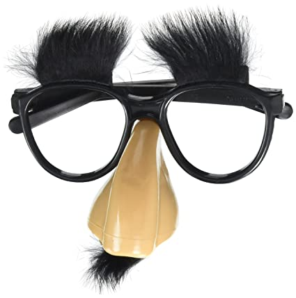 7c634cf3fa4 Amazon.com  Accoutrements Fuzzy Nose and Glasses Classic Disguise ...