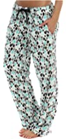PajamaMania Women's Plush Relaxed Fit Fleece PJ Pajama Pants