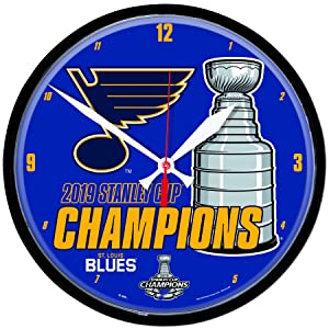 WinCraft St. Louis Blues 2019 Stanley Cup Champions Round Wall Clock