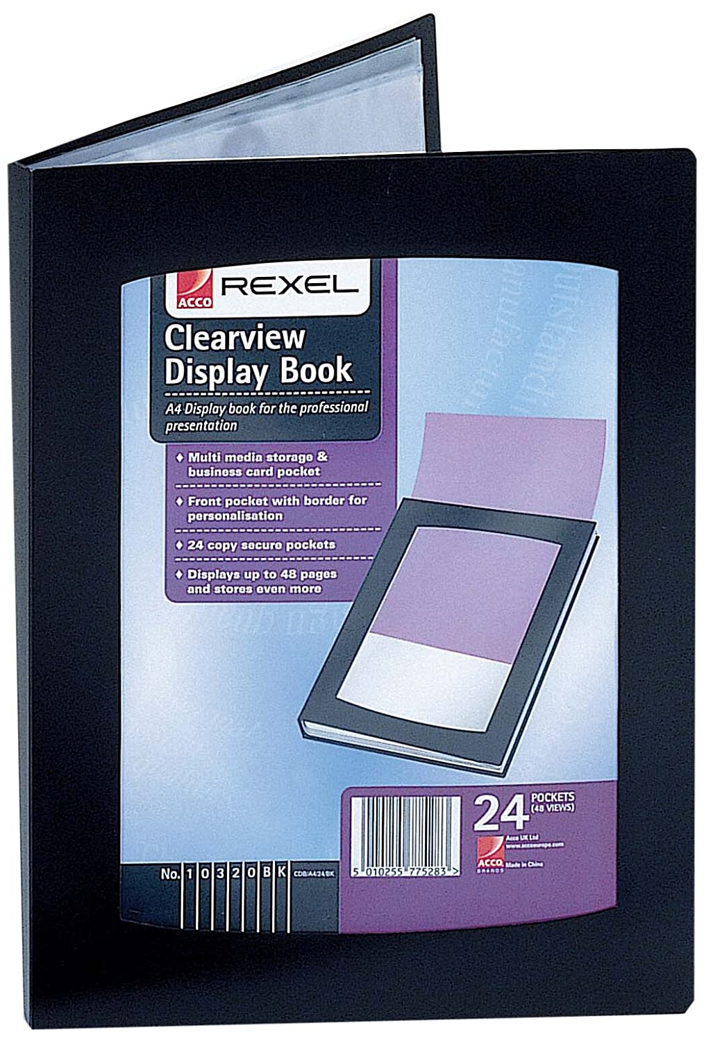 Rexel a5 clearview display book black amazon office products reheart Images