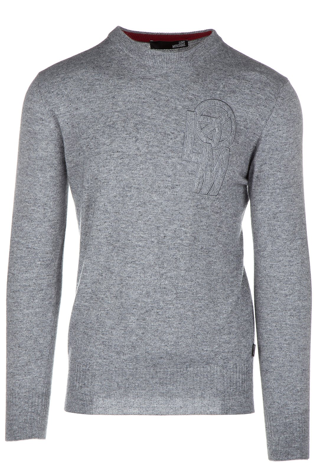 Love Moschino Men's Crew Neck Neckline Jumper Sweater Pullover Grey US Size M (US M) M S 5U6 01 X 0927 40