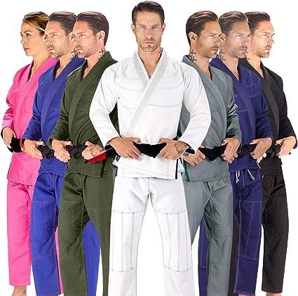 Elite Sports BJJ GI for Men IBJJF Kimono BJJ Jiujitsu GIS W//Preshrunk Fabric /& Free Belt