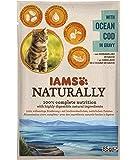 Iams Naturally Kabeljau, Nassfutter mit Kabeljau für erwachsene Katzen