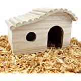 Alfie Pet by Petoga Couture - Piko Wooden Hideout Hut for Small Animals like Dwarf Hamster and Mouse