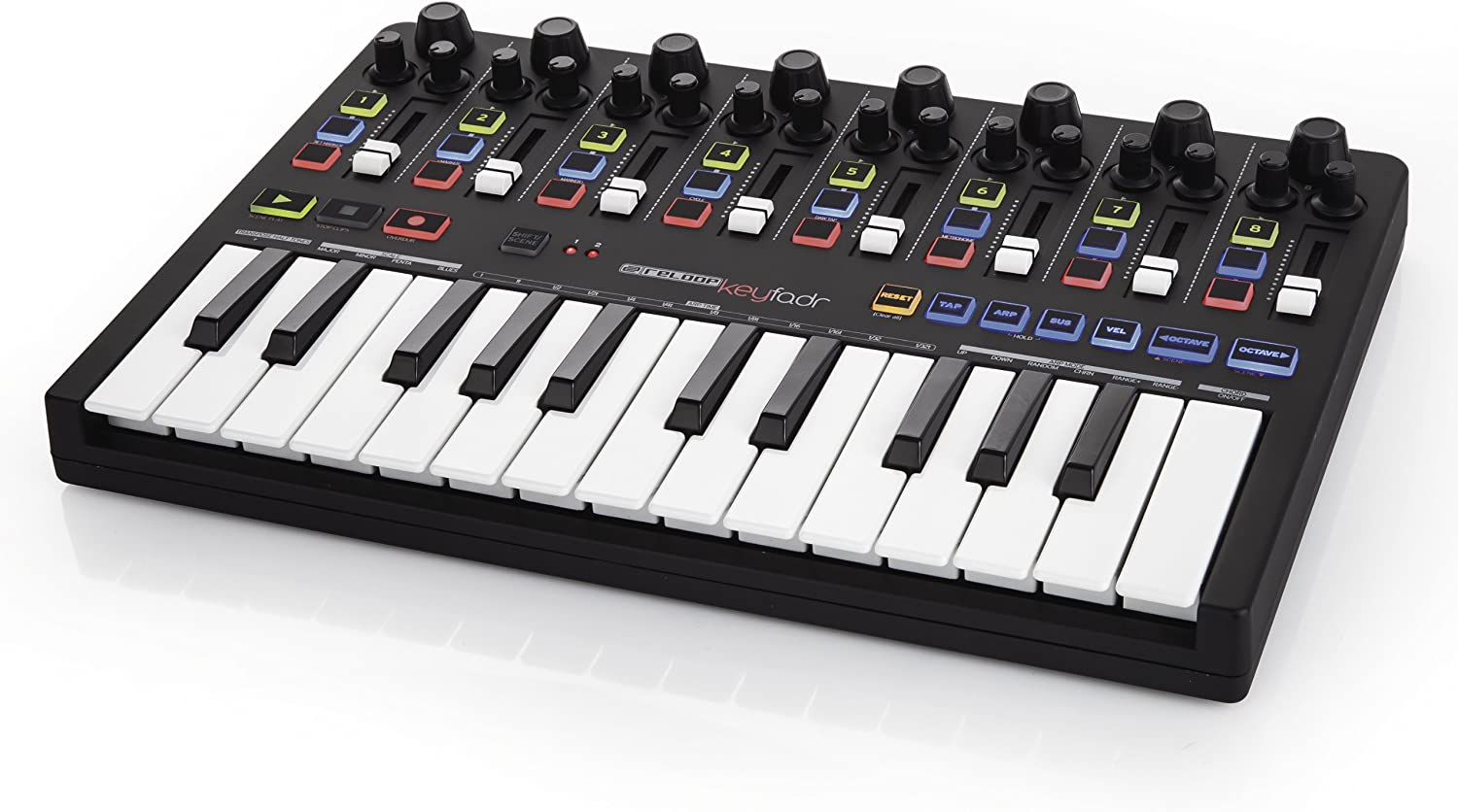 Reloop Keyfadr Compact USB MIDI Keyboard with DAW Control for Use ...