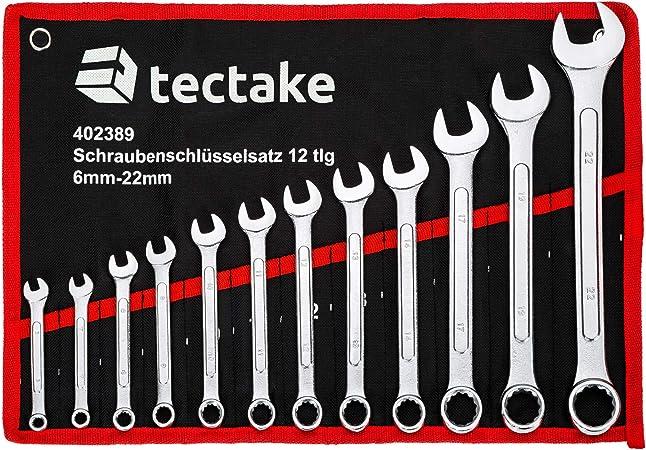 INCL TecTake Set de cl/és Mixtes 14 pc Type 3 | no. 402494 Trousse 6-19 mm
