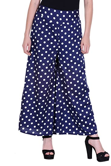 50636ca5593a82 Deewa Blue Dotted Print Palazzo  Amazon.in  Clothing   Accessories