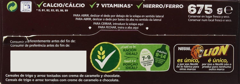 Cereales Nestlé Lion - Cereales de trigo y arroz tostados con crema de caramelo y chocolate: Amazon.es: Amazon Pantry