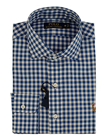 10a6208d762 Polo Ralph Lauren Men s Gingham Long Sleeve Multicolored Pony Oxford Shirt-RW-S  at Amazon Men s Clothing store
