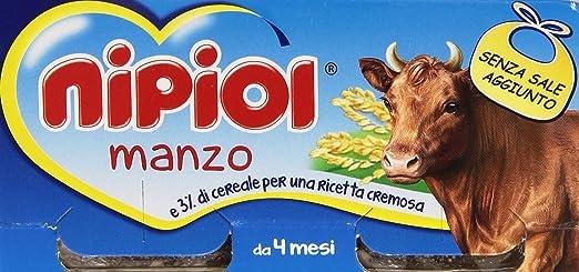 3 opinioni per Nipiol- Omogeneizzato con Manzo e Cereale, Senza Glutine e Senza Sale Aggunta-
