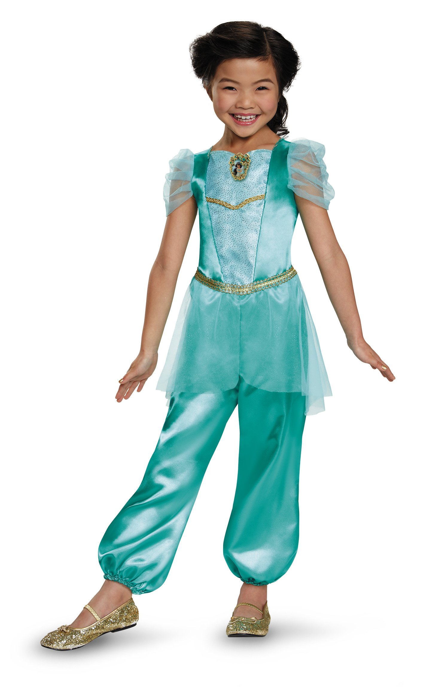 Jasmine Classic Disney Princess Aladdin Costume, One Color, Medium/7-8