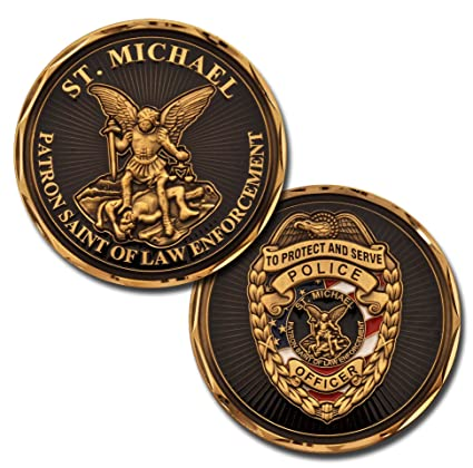 Armed Forces Depot St Michael Police Officer Patron Saint of Law  Enforcement Challenge Coin
