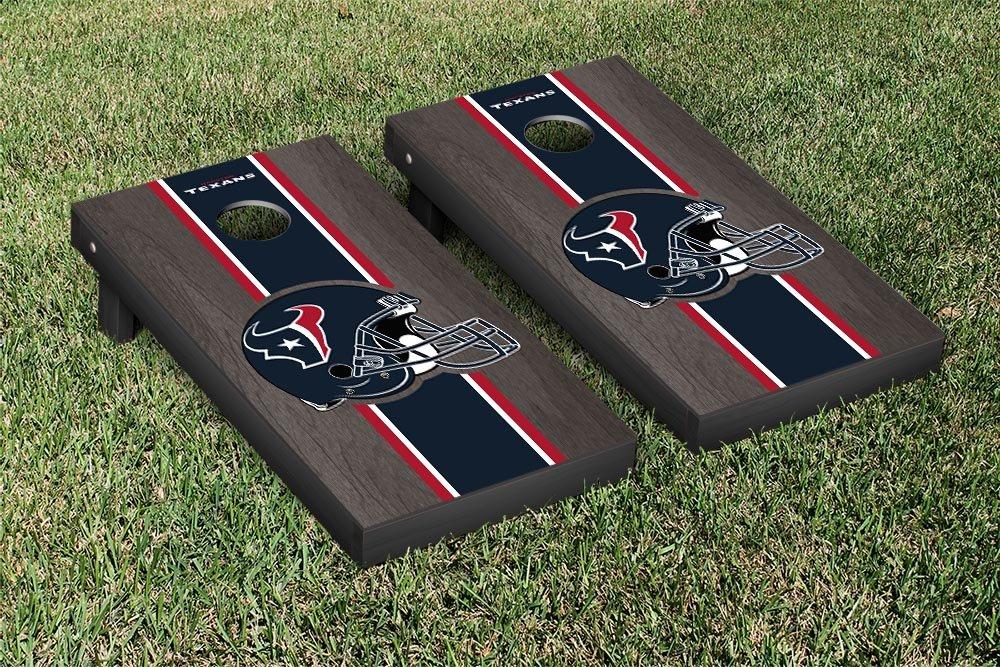 NFL Houston Texans Onyx Stained Stripe Version Football Cornhole Game Set, 24'' x 48'', Multicolor