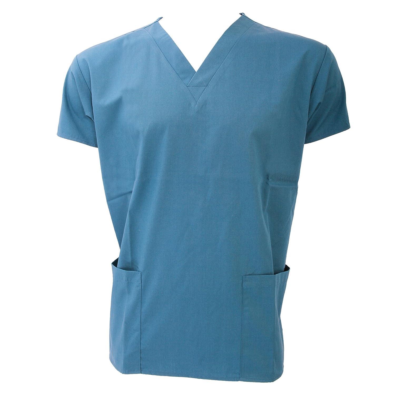 ed36fcb29e454 Blouse tunique médicale unisexe Dickies col V manches courtes  Coton Polyester-Couleurs noir blanc bleu rose vert violet turquoise-Professions  infirmière  ...