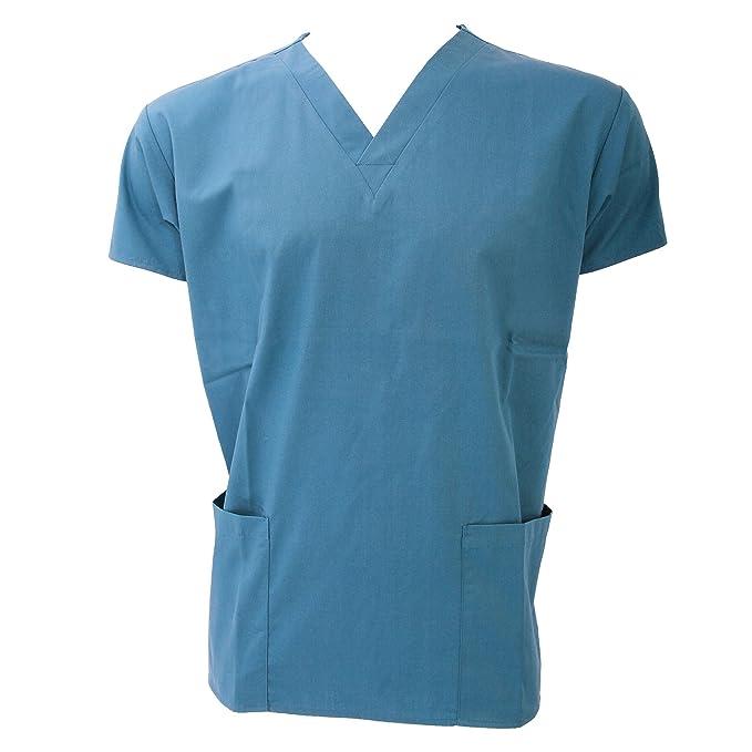 Dickies camisa uniforme medico con bolsillos Azul Cielo XS