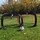 Kidseden - Portería de fútbol plegable para niños de 1,22 m para actividades al aire última intervensión, portátil…