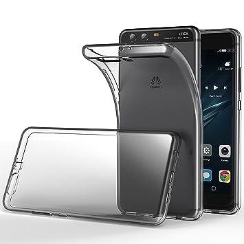 Funda Huawei P10, Lanseed Ultra Transparente Carcasa Silicona TPU Case Espalda Clara Protectora Funda para Huawei P10