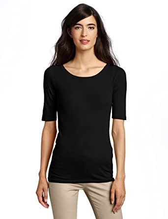 595b9746386 Amazon.com: Michael Stars Women's Scoop-Neck T-Shirt, Black, One ...