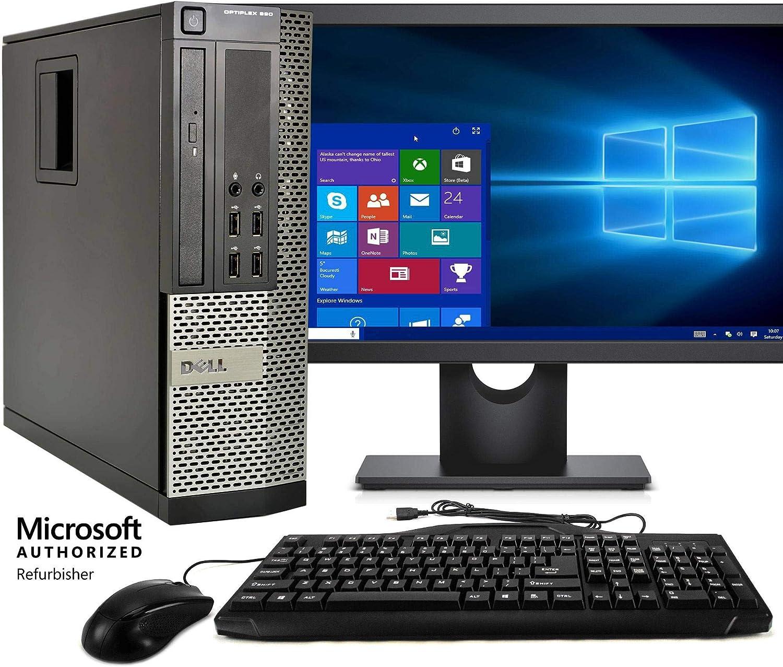 Dell Optiplex 990 Desktop Computer, Intel Core i5 3.1GHz, 4GB RAM, 250GB HDD, Keyboard/Mouse, DVD, 17in LCD Monitor, Windows 10 (Renewed)