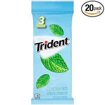 Amazon com : Trident Mint Bliss Sugar Free Gum - with