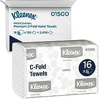 Kimberly-Clark Professional Kleenex C Toallas de papel plegables (01500), absorbentes, color blanco, 16 paquetes/funda…